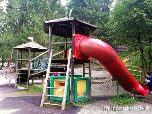 scivolo del parco degli gnomi di Sillian