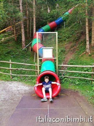 scivolo grande chiuso al parco degli gnomi Sillian Val Pusteria