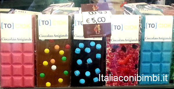 stecche di cioccolato colorate Eurochocolate