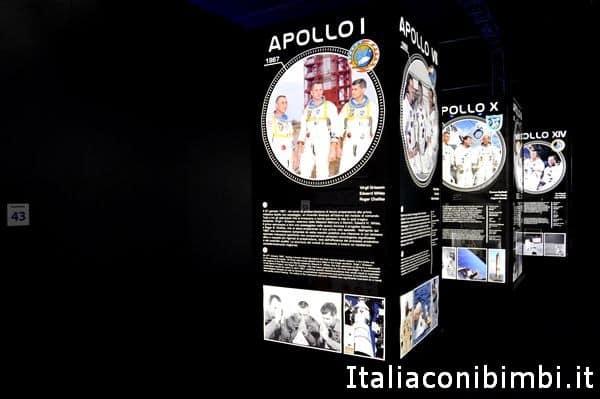 Missione Apollo alla mostra Cosmos Discovery
