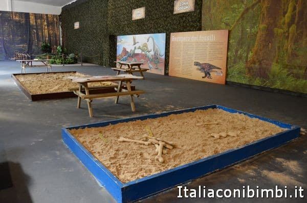 area giochi della mostra Dinosaur Invasio