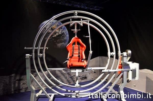 giroscopio umano alla mostra Cosmos Discovery