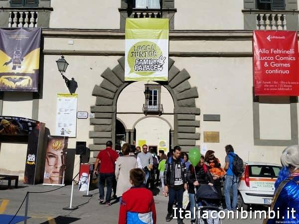 ingresso area Junior a Lucca Comics