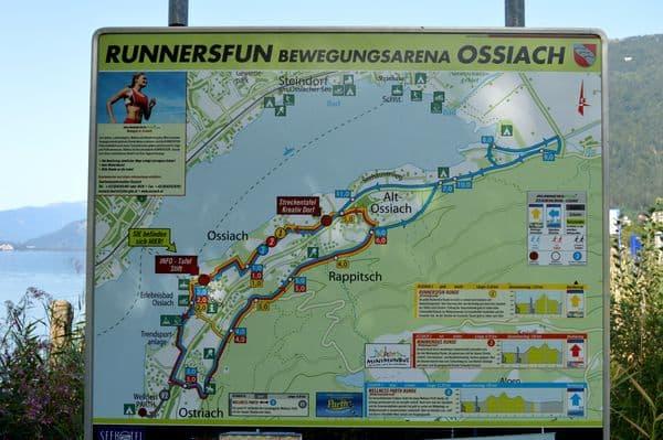 mappa Ossiacher See Carinzia