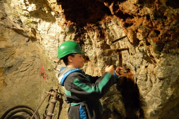 miniera di Bad Bleiberg Terra Mystica a Villach con bambini