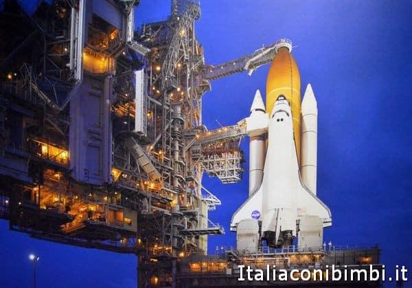 pannello shuttle base di lancio alla mostra Cosmos Discovery