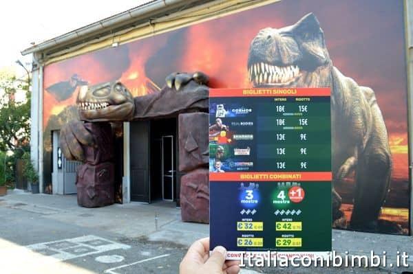 prezzi Dinosaur Invasion mostra al Gudi