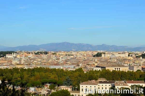 Roma dalla terrazza del Gianicolo
