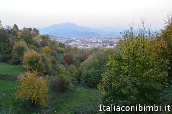 Vista da Largo Colle Aperto Bergamo Alta