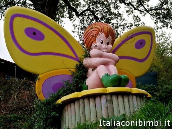 Ingresso del Giardino delle Farfalle di Cesapalombo da vedere sui Sibillini con bambini