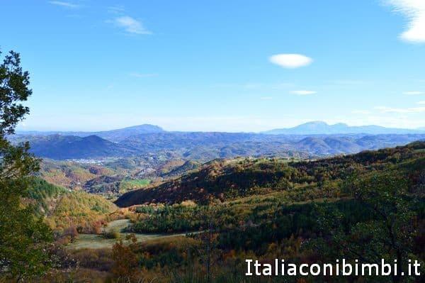 vista dal punto più alto del sentiero natura di Amandola