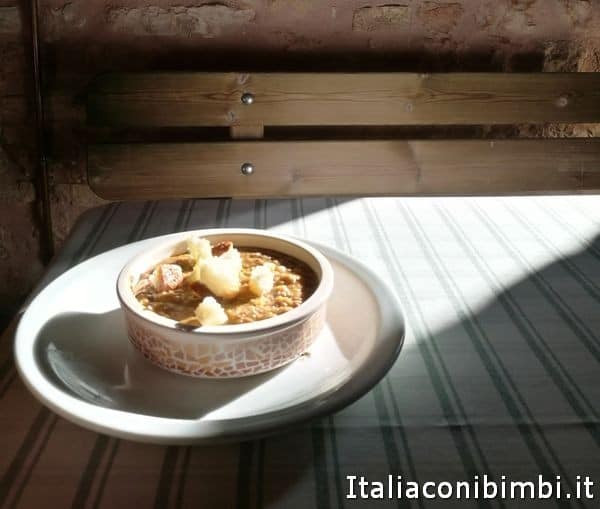 zuppa di legumi al rifugio di Tribbio di Fiastra