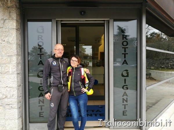 Fulvio e Cristina le guide della Grotta Gigante
