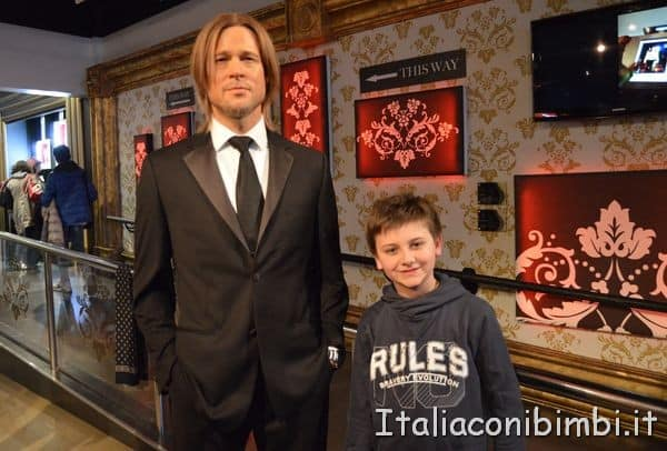 Brad Pitt al Madame Tussauds di Londra