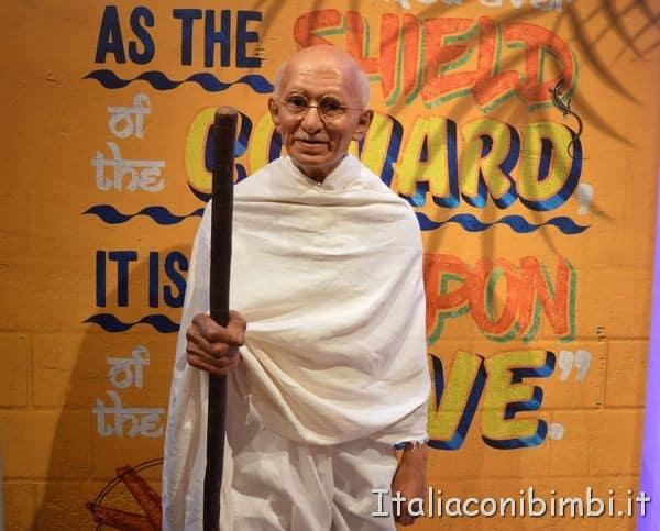 Gandhi al Madame Tussauds di Londra