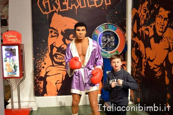 Muhammad Ali al Madame Tussauds di Londra
