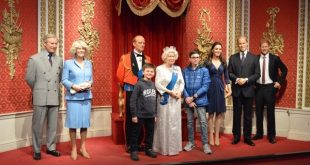 famiglia reale inglese al Madame Tussauds di Londra