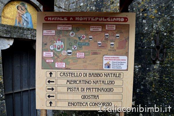 mappa del Natale a Montepulciano