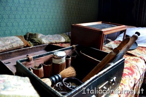 oggetti nella casa di Sherlock Holmes di Londra