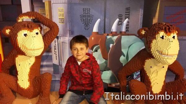 scimmiette al Legoland Discovery Centre di Berlino