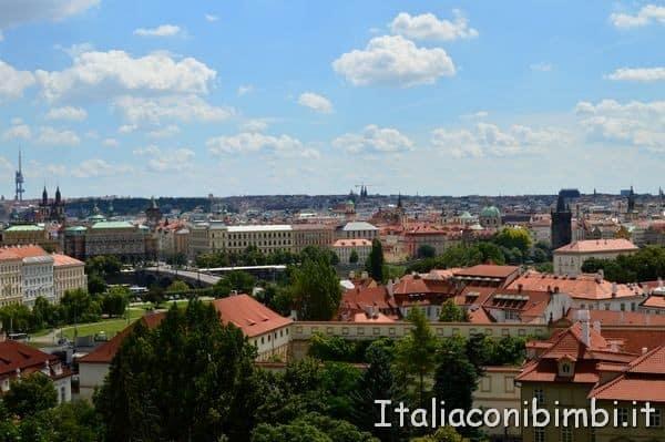 Vista su Praga dal Castello