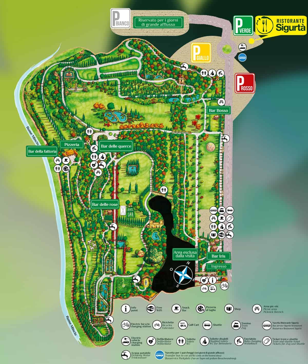 mappa del parco sigurtà