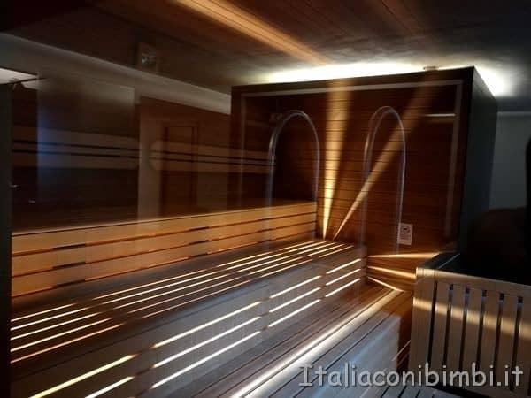 Sauna all'Eco Park Hotel Azalea di Cavalese
