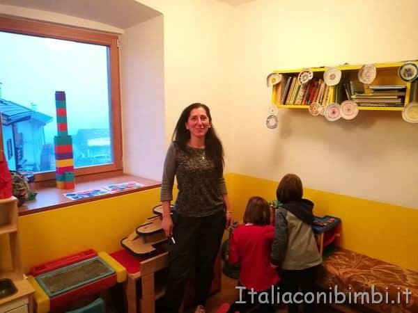 assistenza ai bambini all'Eco Park Hotel Azalea di Cavalese