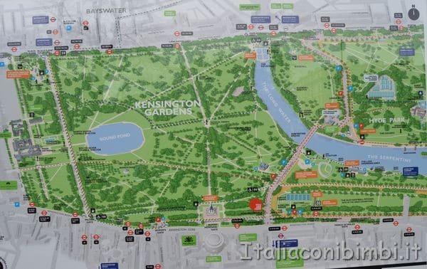 mappa Kensington Gardens