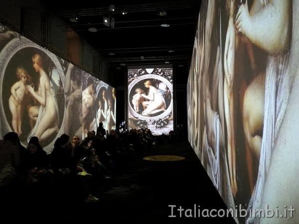 sala grande Klimt Experience Roma