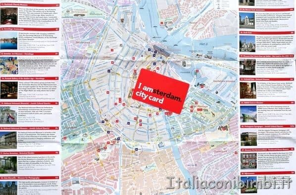 City Card Amsterdam e mappa