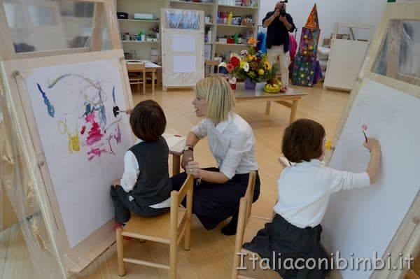 Liberi Reggiomonte International School Loreto lezione di arte
