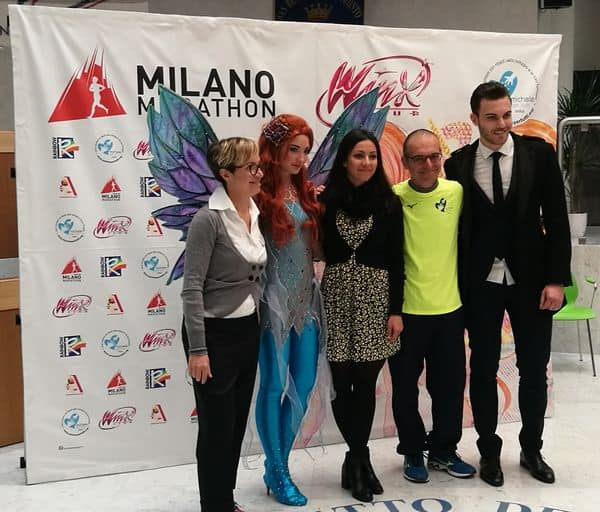 Milano Marathon Michelepertutti conferenza stampa con le Winx