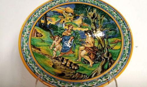 ceramiche al Palazzo Ducale di Urbania