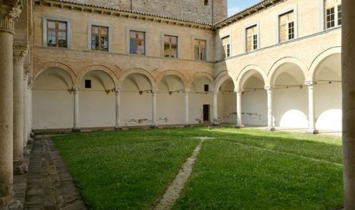 cortile interno del Palazzo Ducale di Urbania.