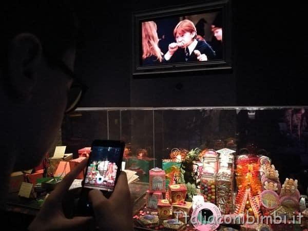 i dolci del negozio Mielandia-alla-mostra-su-Harry-Potter