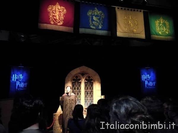 ingresso della mostra di Harry Potter