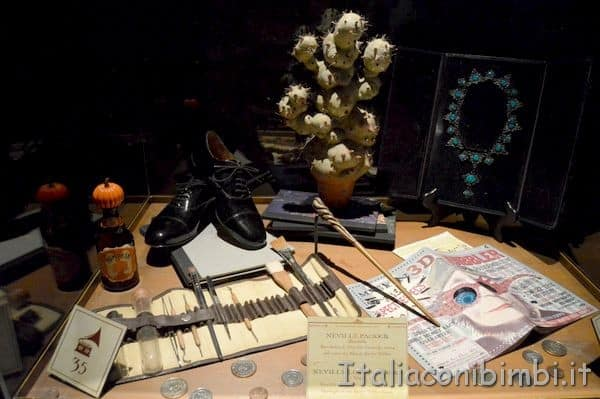 oggetti alla Harry Potter Exhibition di Milano