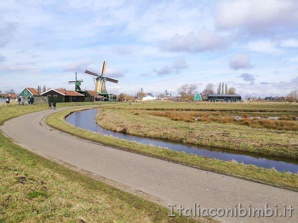 paesaggi d'Olanda a Zaanse Schans Zaandam