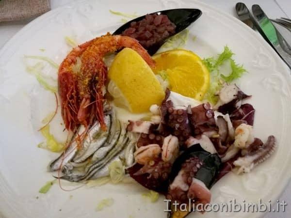 antipasto di polpo al ristorante Kentia di Cefalù