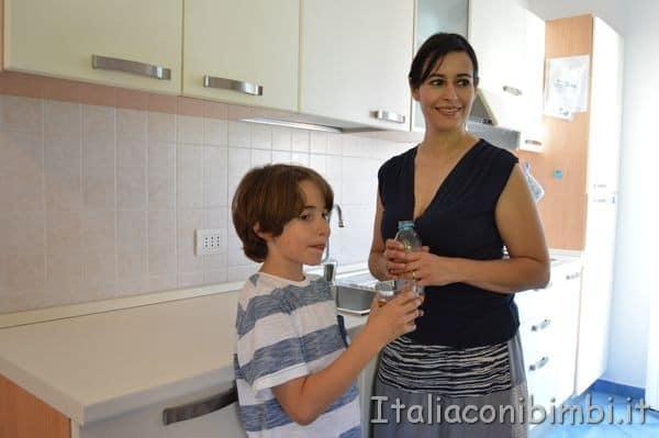 cucina di casa vacanze Villa Spina