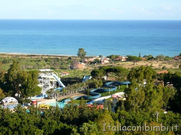 parco acquatico dell'Hotel Costa Verde di Cefalù