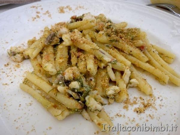 pasta con le sarde al ristorante Kentia
