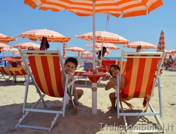 spiaggia della casa vacanze Villa Spina di San Benedetto