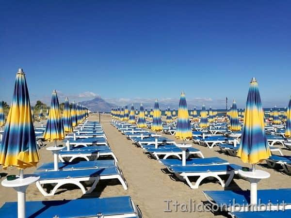 spiaggia dell'albergo Costa Verde di Cefalù