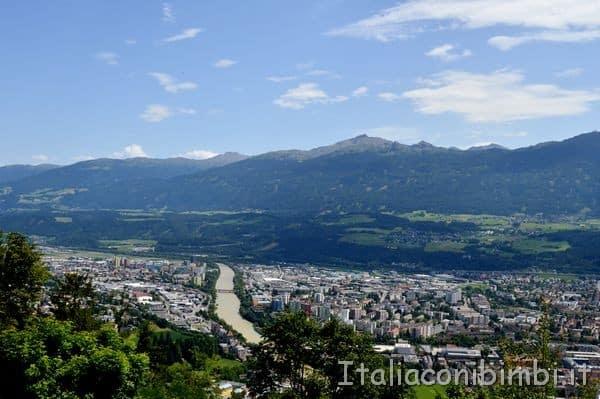 Innsbruck vista dall'Alpenzoo
