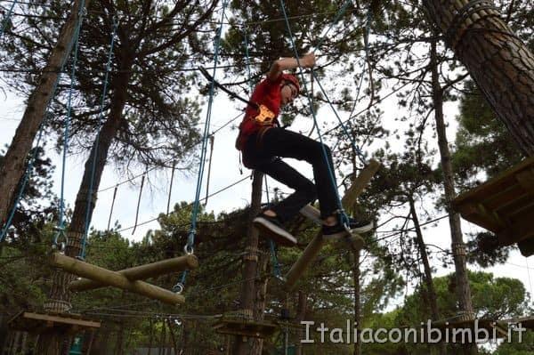 Parco avventura nel parco Unicef di Lignano