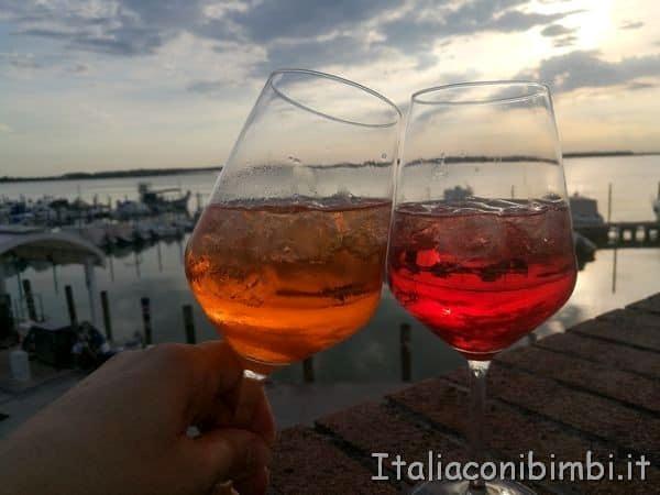 aperitivo a porto Baseleghe di Bibione