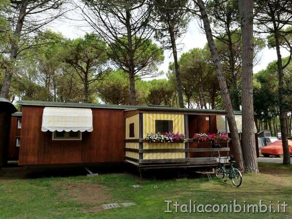 casette del Camping Tridente a Bibione