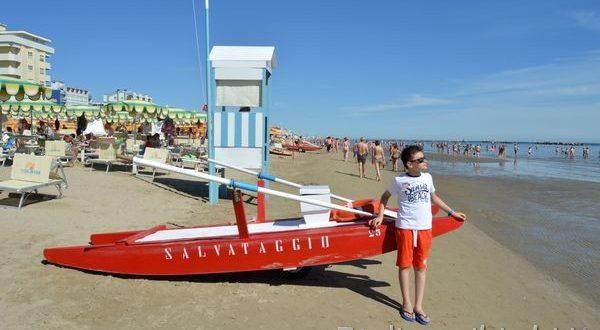 in spiaggia a Bellaria Igea Marina